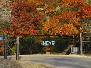 Hill Country Youth Ranch Gate with Initials
